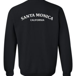 Santa Monica California Sweatshirt Back
