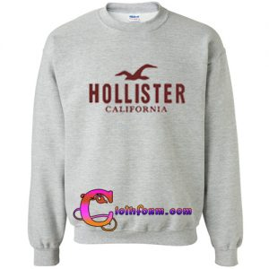 hollister california logo sweatshirt