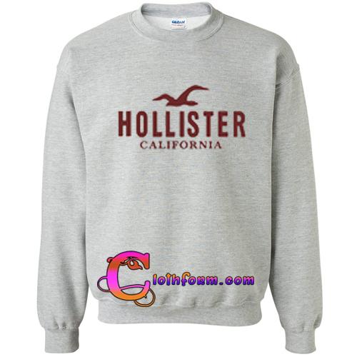 hollister california logo sweatshirt