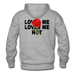 loves me loves me not rose back hoodie