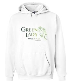 Green Lady Marijuana Hoodie