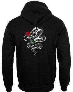snakes roses back hoodie
