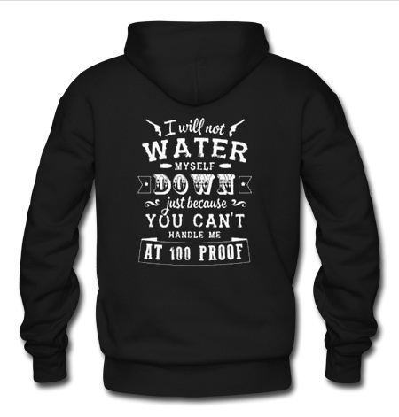 i will not water myself down quote Hoodie back