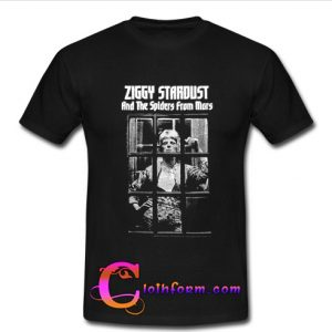 ziggy stardust and the spiders from mars t shirt