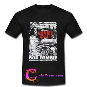 zombie house t shirt