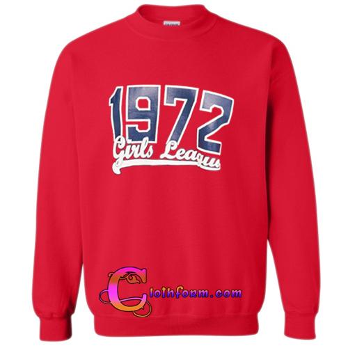 1972 girls league sweatshirt