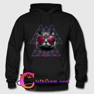 3d space cat hoodie