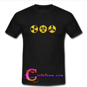 Radioactive Chemical Hazard Biohazard T Shirt
