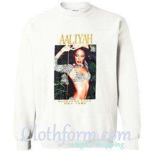 Aaliyah European Tour 1995 Sweatshirt