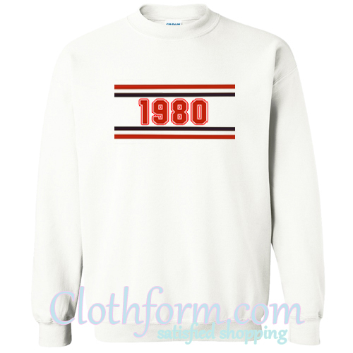 1980 Striped sweatshirt