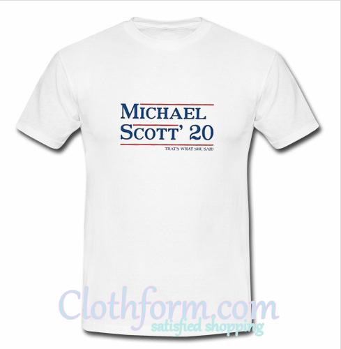 michael scott 20 t shirt