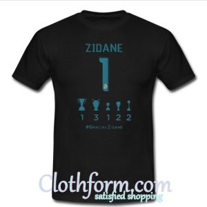 Zidane collection of titles T shirt