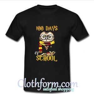 100 Days Owl of school Gryffindor Magic Wizard T Shirt At