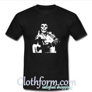 Johnny Cash The Misfits Middle Finger Black Skull T shirt At