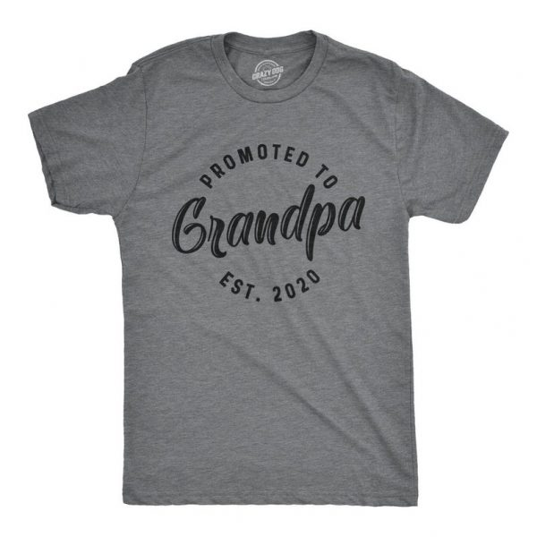 Promoted to Grandpa Est. 2020 Shirt ST02