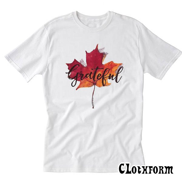 Grateful Autumn Leaves T-shirt TW