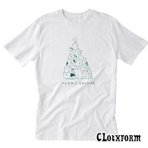 Merry Catmas Tree T-Shirt TW