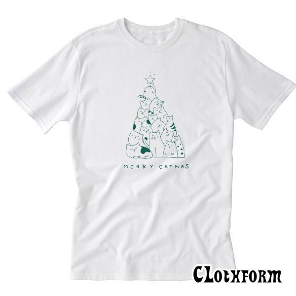 Merry Catmas Tree T-Shirt TW