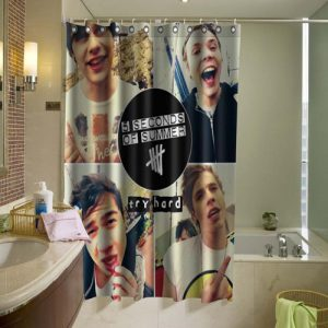 5 Second of Summer 5SOS Shower Curtain At