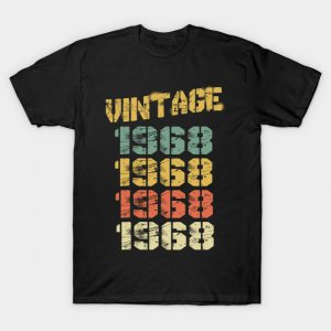 1968 Vintage Funny 52nd Birthday Gift T-Shirt AI