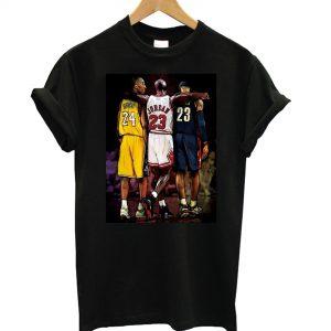 Lebron James Michael Jordan Kobe Bryant Great Star NBA Basketball T shirt