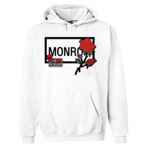 Monroe & Red Rose Hoodie