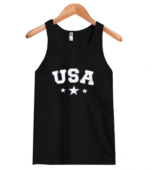 USA Star Letter Graphic Tank Top SN
