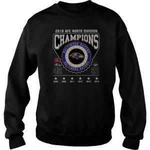 2019 Afc North Division Champions Baltimore Ravens Sweatshirt SN