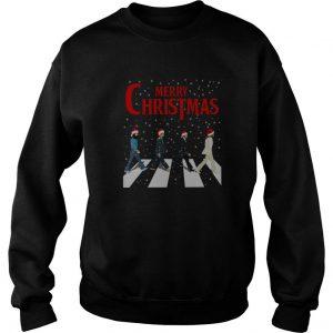 Merry Christmas The Beatles Santa Hat Abbey Road Sweatshirt SN