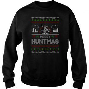 Merry Huntmas Ugly Christmas Sweatshirt SN