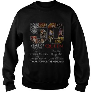 50 Years Of Queen Thank You For The Memories Signatures Sweatshirt SN